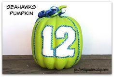 Seahawks Pumpkin! 6 Cool No Carve Pumpkin Ideas | Yesterday On Tuesday #GoHawks
