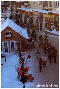 Visiter le village de Mont-Tremblant dans les Laurentides au Québec et se croire au pays du Père Noël