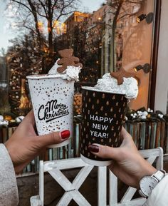 What is your all time favourite festive drink? Ours is an Oat Milk Gingerbread Latte 🎅🏽 fotos Christmas Badges & Xmas Button Badges - Designs Available Christmas Feeling, Noel Christmas, Merry Little Christmas, Christmas And New Year, All Things Christmas, Winter Christmas, Christmas Lights, Xmas, Hygge Christmas