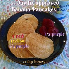 21 day fix breakfast. Banana pancakes