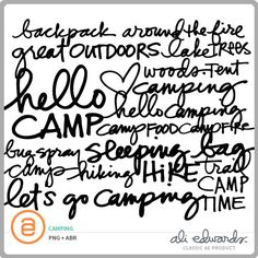 Camping at Ali Edwards