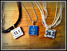 are you a runner? these cute pendant necklaces are just what you need to celebrate your accomplishments!
