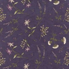 The Potting Shed Violet 6626 16 Moda Fabrics and Holly Taylor Quilt Patterns Free, Fabric Patterns, Green And Purple, Green And Brown, Free Pattern Download, Purple Fabric, Fabulous Fabrics, Muted Colors, Quilting Designs