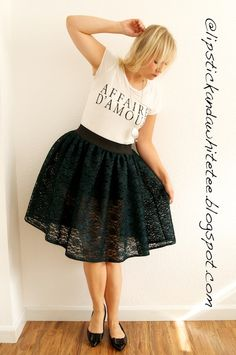 DIY a party Skirt Really cute and simple lace skirt.