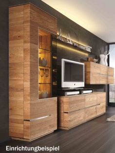 Wohnwand rustikal modern  Wanddeko aus Holz tv wohnwand | Zukünftige Projekte | Pinterest ...