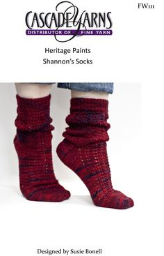 Shannon's Socks in Cascade Heritage Paints - FW111. Discover more Patterns by Cascade at LoveKnitting. We stock patterns, yarn, needles and books from all of your favorite brands.