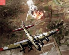 """This picture shows an American B-17F """"Virgins Delight"""" of the 410th Bomb Squadron of the 94th Bombardment Group of the 8th Air Force. It is…"""