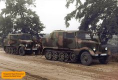 Hansa-Lloyd Tractors in Hungarian service. Defence Force, Second World, Armored Vehicles, Skin So Soft, World War Ii, Military Vehicles, Wwii, Monster Trucks, Army