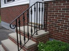 Exterior Interior Wrought Iron Railings Handrails Gates Fencing 105 A Linear