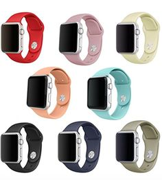 Apple Watch Band, SailFar Sports Silicone Replacement Wrist Strap for Apple Watch iWatch Series 1 Series 2 Large) Apple Watch Iphone, Apple Watch 42mm, Apple Watch Series 2, Apple Watch Bands, Apple Watch Silver, Paracord Watch, Apple Watch Fashion, Airpods Apple, Replacement Watch Bands