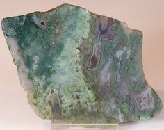 Beautiful Polished Moss Agate Slab