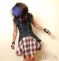 Swallowtail+Steampunk+Jacket++Sleeveless+Gothic+vest++by+Malam,+€270.00