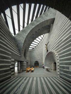 Church of St John the Baptist, Mogno, Maggia Valley, Switzerland, Mario Botta, architect.