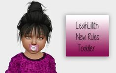 LeahLillith New Rules hair for toddlers at Simiracle • Sims 4 Updates
