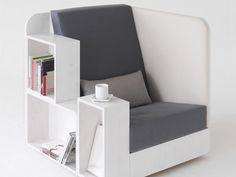 Poltrona criativa que combina conforto e utilidade...