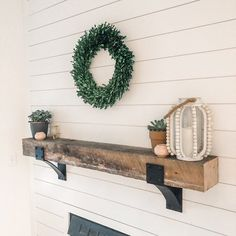 New Photographs Fireplace Mantels with corbels Strategies Fireplace Mantel Mantel Decor Rustic Mantel Farmhouse Decor, Rustic Shelves, Shelves, Farmhouse Decor, Steel Shelf Brackets, Industrial Shelving, Mantel Decorations, Metal Shelves, Farmhouse Mantel