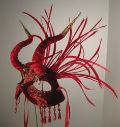 Hey, I found this really awesome Etsy listing at https://www.etsy.com/listing/178354894/red-demoness-masquerade-maskmasquerade