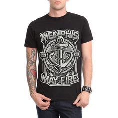 Memphis May Fire Anchor Slim-Fit T-Shirt | Hot Topic ($21)