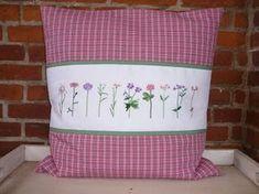 Kissen Blumen Kreuzstich Sommer Frühling / Pillow Flowers Summer Spring Cross Stitching