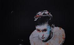 RAISED BY THE MIST; acrylic and oil on canvas; 81x130cm.