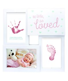 Yellow 'so Little so Loved' Collage Frame