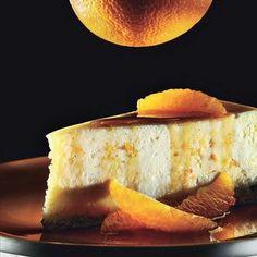 Ricotta cheesecake with caramel-orange sauce