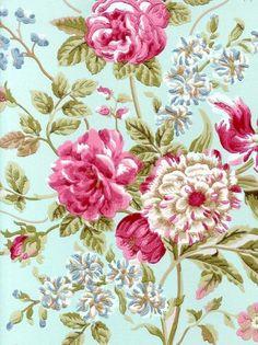 Sanderson wallpaper, Honfleur design, Eloise