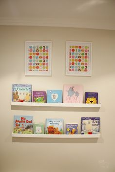 Playroom wall - bookshelf