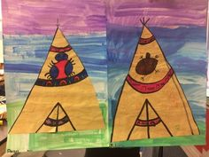 Kindergarten artists are studying Native American art and learning about the various types of houses that Native Americans lived in. Kinderg...