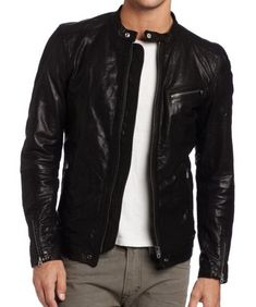 Shell Cowhide leather Inner fully lining Front zip fasten Two side pockets One inside pocket Sizes, XS,S,M,L,XL,XXL,XXXL Ship through DHL and Sky net worldwide express