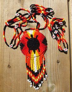 american native bead work. $58.50, via Etsy.