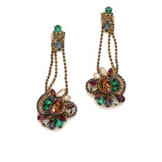 Club Monaco Cluster Earrings by Erickson Beamon for Club Monaco ($120) ❤ liked on Polyvore