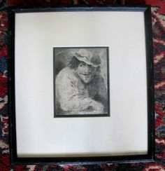 Original Portrait Etching of a Mysterious Man by 17th Century Artist Adriaen van Ostade
