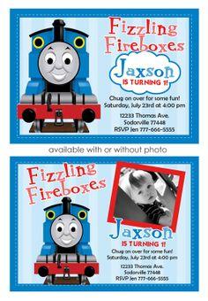 Thomas Train Invitation Thomas and Friends by SplashboxPrintables