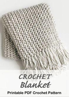 Make a Cozy Throw Crochet blanket pattern – crochet afghan pattern – crochet throw pattern – A Crafty Life Modern Crochet Blanket, Crochet Throw Pattern, Crochet For Beginners Blanket, Crochet Stitches Patterns, Crochet Throws, Afghan Patterns, Chunky Crochet Blankets, Quick Crochet Blanket, Knitted Afghans