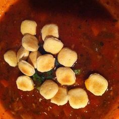 "Photo by mizusjackson ""Conch chowder with oyster crackers at Margaritaville, Key West."""