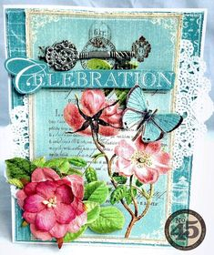 Celebrate your loved ones with this beautiful Botanical Tea card by Arlene #graphic45 #cards
