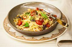 Espaguete de pupunha com tomate e nozes | Panelinha - Receitas que funcionam