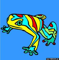 venezuelanyellowfrogcoloringpage