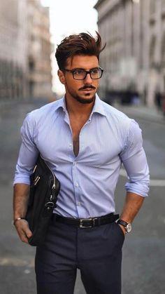 Suit Fashion, Dark Fashion, Mens Fashion, Fashion Outfits, Men Summer Fashion, Fashion Bags, Fashion Ideas, Smart Casual Wear, Men Casual