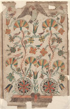 Drawing (Flowers and Birds), 1802
