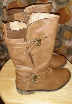 537b8d1c013d girls brown riding boots size 1 side buckles  fashion  clothing  shoes   accessories  kidsclothingshoesaccs  girlsshoes (ebay link)