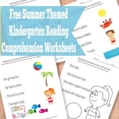 Free Summer Kindergarten Reading Comprehension Worksheets
