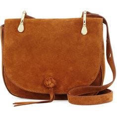 Elizabeth and James Zoe Suede Saddle Bag (12.480 UYU) ❤ liked on Polyvore featuring bags, handbags, shoulder bags, tan, handbag purse, tan purse, suede shoulder bag, handbags shoulder bags and brown saddle bag