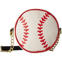 Luv Betsey Batter Baseball Kitch (Cream) Handbags ($25) ❤ liked on Polyvore featuring bags, handbags, shoulder bags, beige, crossbody handbags, hand bags, pink purse, crossbody purse and pink shoulder bag
