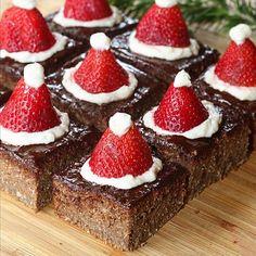 Brownie saludable navideño - minrebolledo