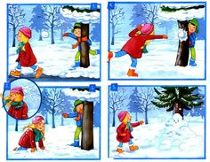 7 Sequencing Cards, Story Sequencing, Preschool Learning, Teaching, Sequence Of Events, Winter Pictures, Picture Description, Kindergarten, Classroom