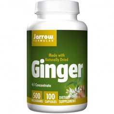 Jarrow Formulas, Ginger, 4:1 Concentrate, 500mg, 100 Capsules