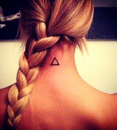 Want this Triangle tattoo on my ankle....