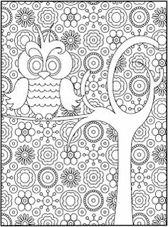 complicated design bird flock coloring page for teens or adults - Colouring Ins